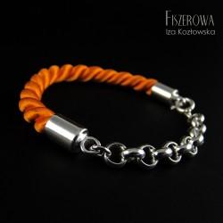 Srebro i sznur - negatyw bransoleta