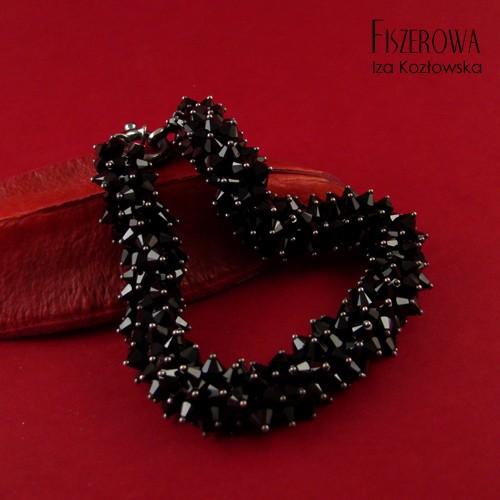 Multibicone - black bransoleta