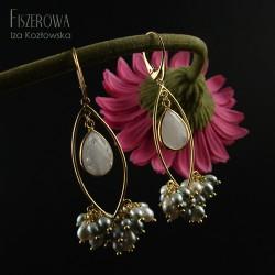 Afia moonstone & pearls