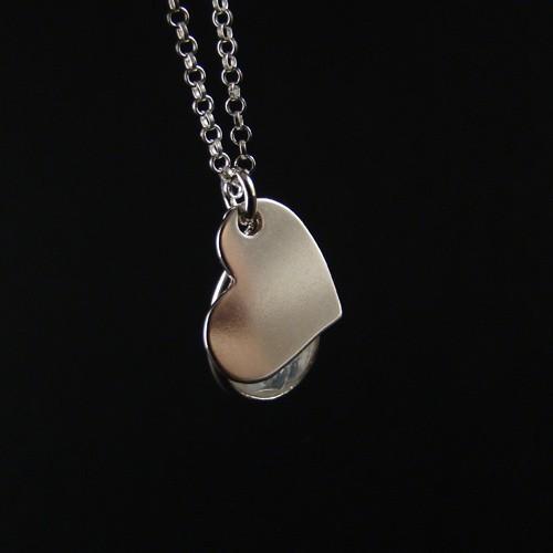Gem W silver - kamień księżycowy mini II