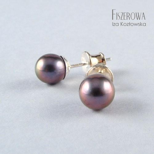 Pearl dot - silver/graphite pink