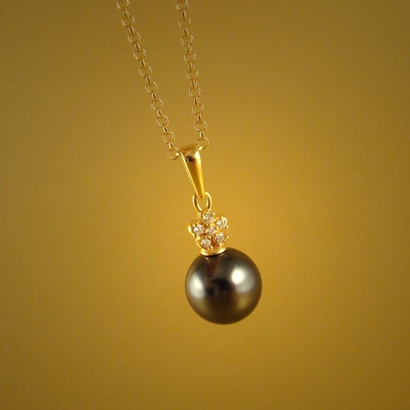 Pearl dot - graphite & zirconia