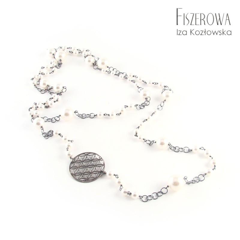 Coco chain - graphite & white