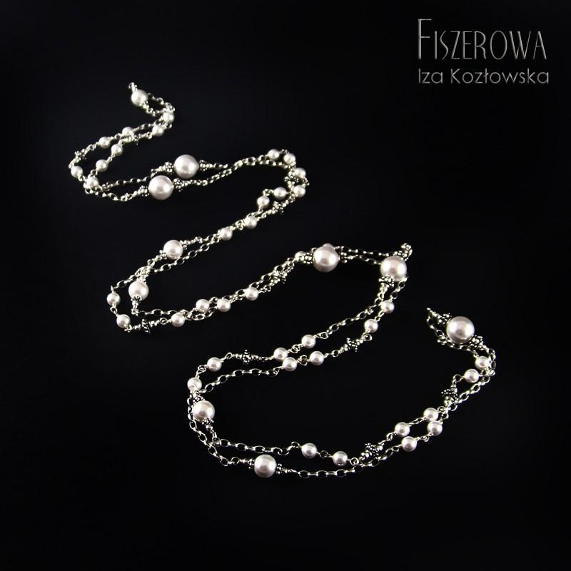 Coco chain - silver & white