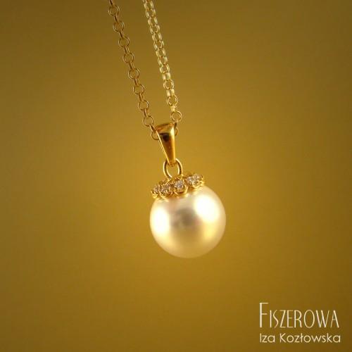 Pearl dot - white & zirconia