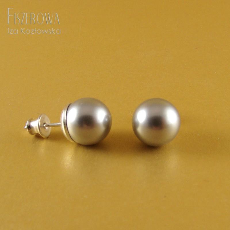 Swarovski pearl dot - silver